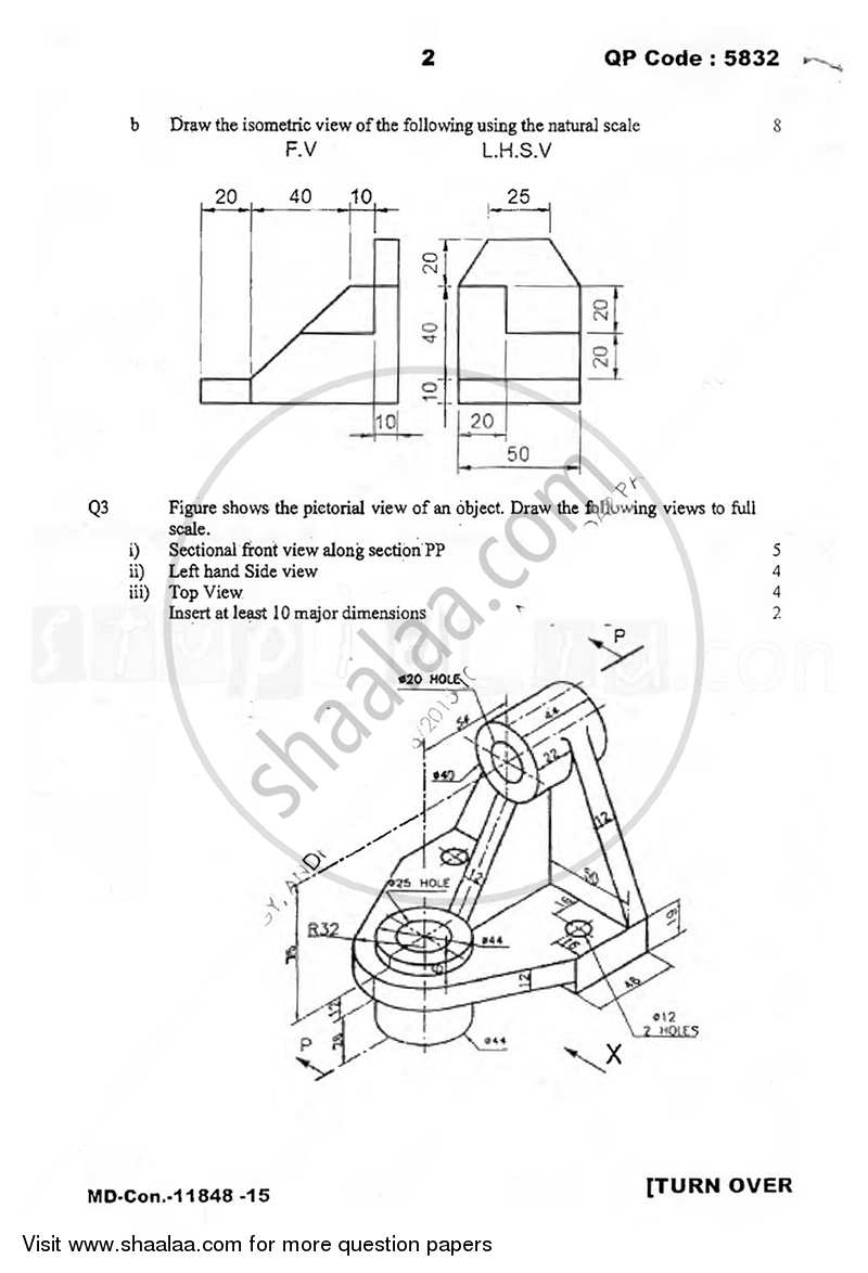 Engineering Drawing 2015-2016 BE Electronics and