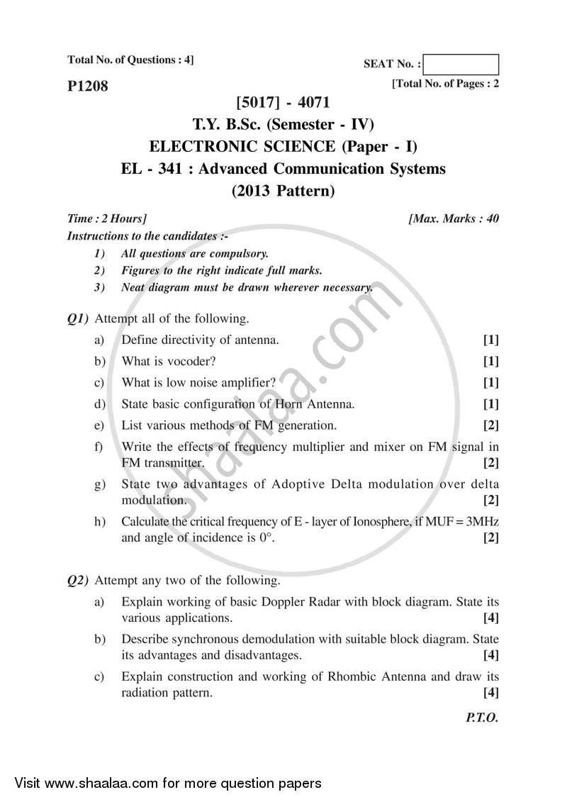 hight resolution of advanced communication systems 2016 2017 b sc semester 6 tybsc