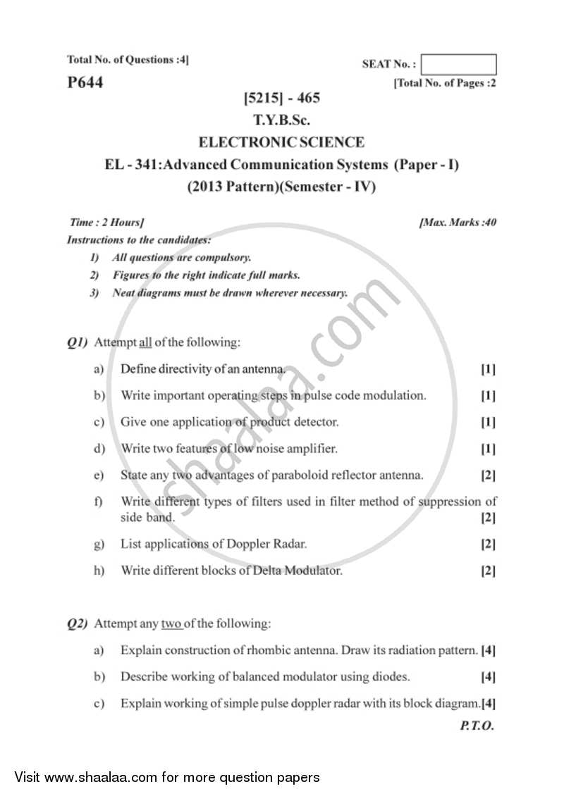 hight resolution of advanced communication systems 2017 2018 b sc semester 6 tybsc