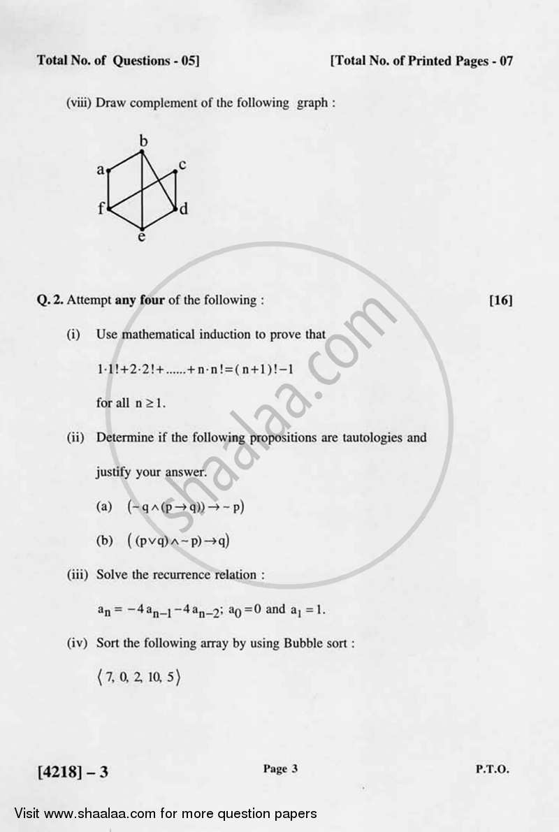Discrete Mathematics 2012-2013 B.Sc Computer Science