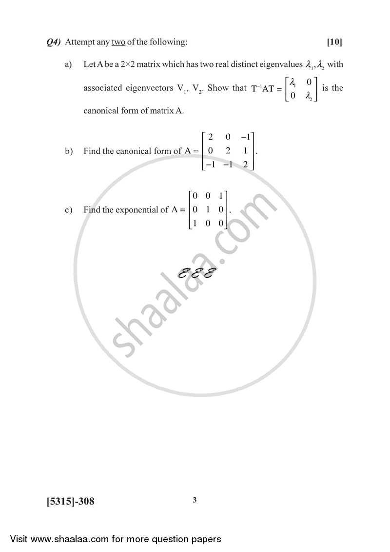 Dynamical System 2017-2018 B.Sc Mathematics Semester 5