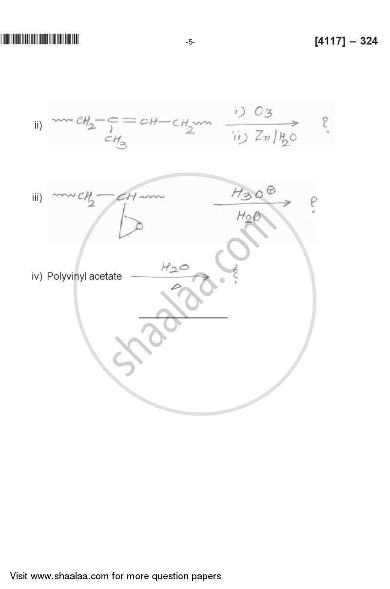 Polymer Chemistry 2012-2013 B.Sc Chemistry Semester 5