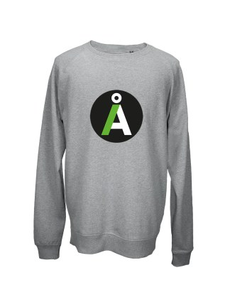 Sweatshirt graa med tryk – alternativet