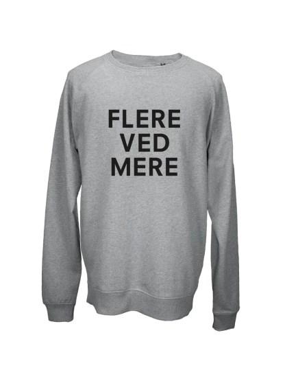 Sweatshirt graa med tryk - FLERE VED MERE