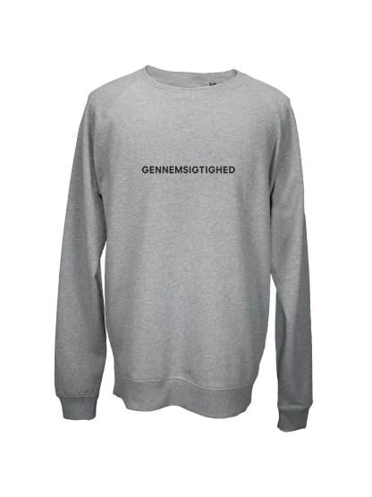 Sweatshirt graa med tryk - GENNEMSIGTIGHED