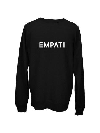 Sweatshirt sort med tryk – empati
