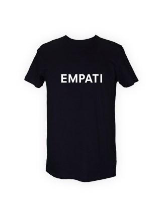 sort herre T-shirt med tryk - EMPATI