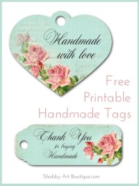 Free printablehandmade tags - Shabby Art Boutique