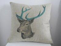 fashioncase Deer Pattern Cotton Linen Square Throw Pillow ...