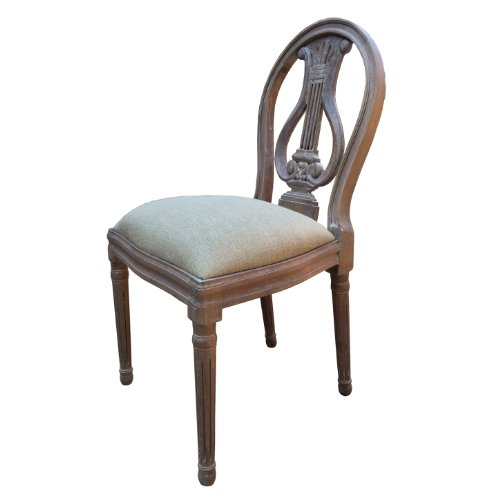 A French Style Shabby Chic Dining Chair in Ash Finish