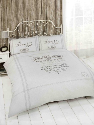 Beautiful French Grey Classic Single Duvet Cover Bed Set Bedding  SHABBYCHICLONDONcouk