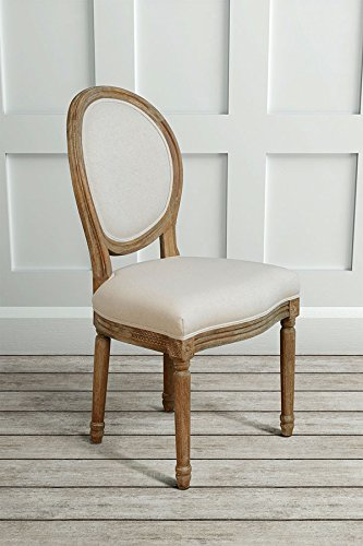 MYFurniture  French Louis Style shabby chic OAK Oval