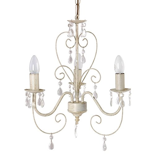 hanging ceiling chairs for bedrooms tempur pedic office chair tp4000 reviews ornate vintage style shabby chic 3 way light chandelier with beautiful acrylic jewels ...
