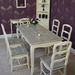 Clear Desk Chairs Stair Chair Lift Classic Casamore Devon Rectangular Dining Table And 6 In French Inspired Shabby ...