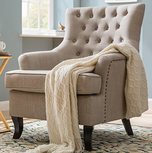 Bedroom Vintage Armchair Traditional Wing Back High