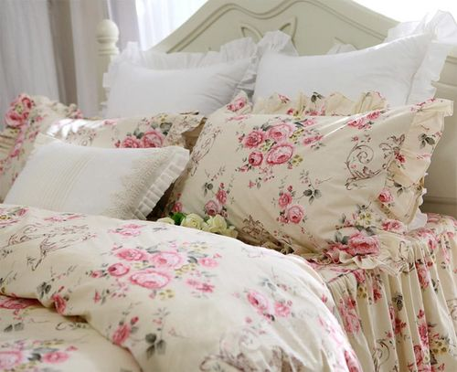 Biancheria lettocompleto letto matrimoniale lenzuola country chic in cotone caleffi. Set Biancheria Letto Romantique Chic Giselle Shabby Chic Isabelle