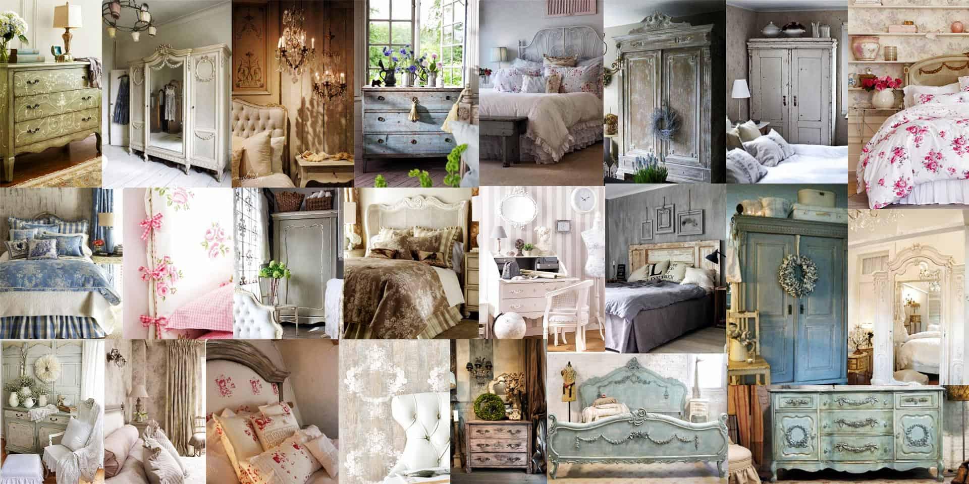 Camere da letto Shabby  le caratteristiche tipiche e 70 foto