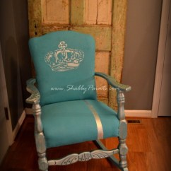 Baby Rocker Chair Steelcase Manual Chalk Painted Fabric Makeover - Shabby Paints