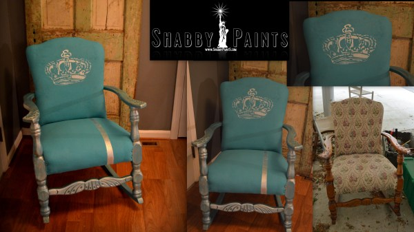 Painting with Chalk Paint Fabric Chairs