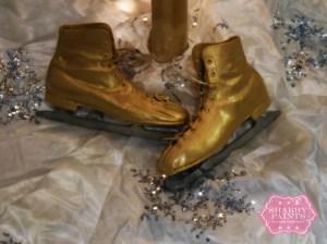 Painted vintage Ice skates