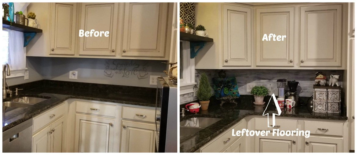 Farmhouse backsplash on a budget