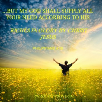 Trust in God for Your Provision