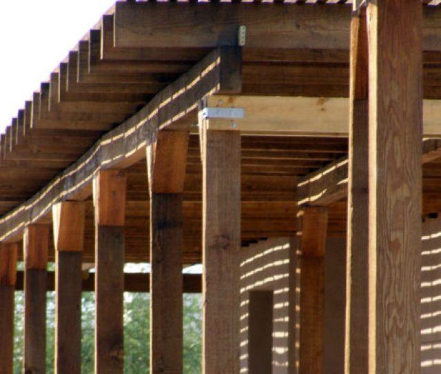 Wood Lattice Shade Structure