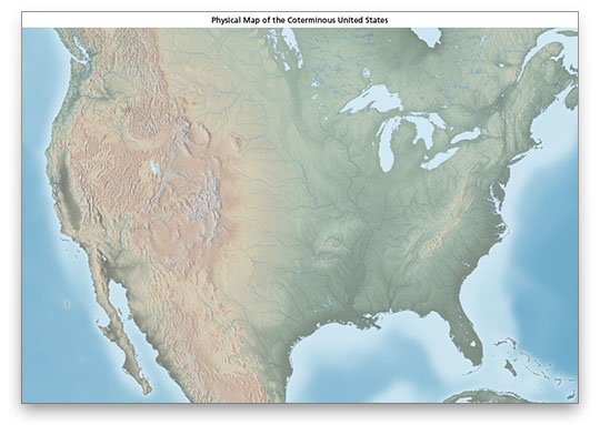 For example, a map of a mall may have symbols that reveal bathrooms,. Us Physical Map Download