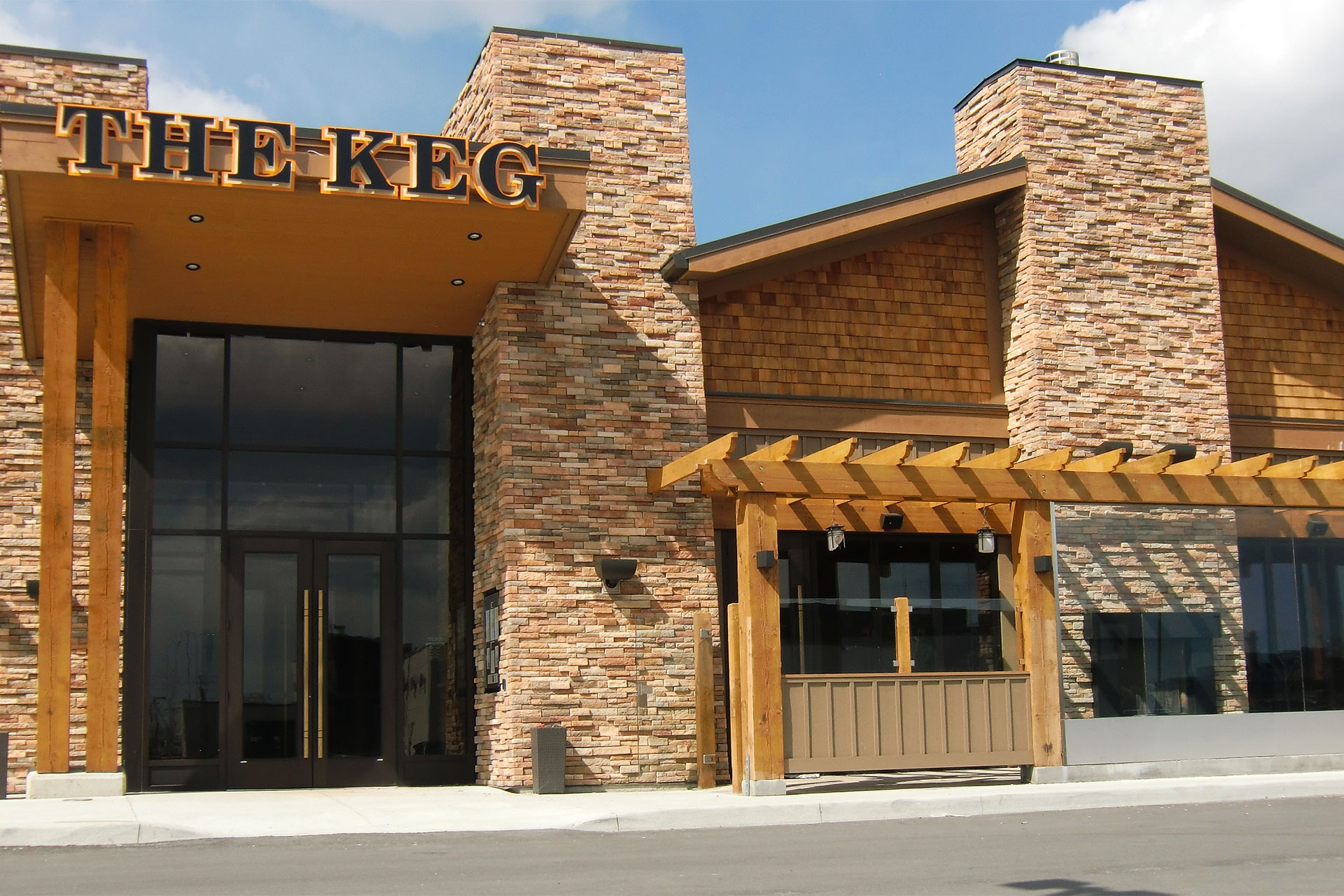 Topside Canopy at The Keg in Richmond Hill  ShadeFX Canopies
