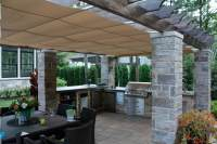Retractable Outdoor Kitchen Cover in Terrebonne