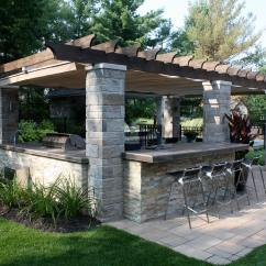 Outdoor Kitchen Covers Stainless Steel Sink Reviews Retractable Cover In Terrebonne Shadefx