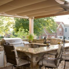 Outdoor Kitchen Covers Modern Faucets Stainless Steel In South Hills Shadefx Canopies