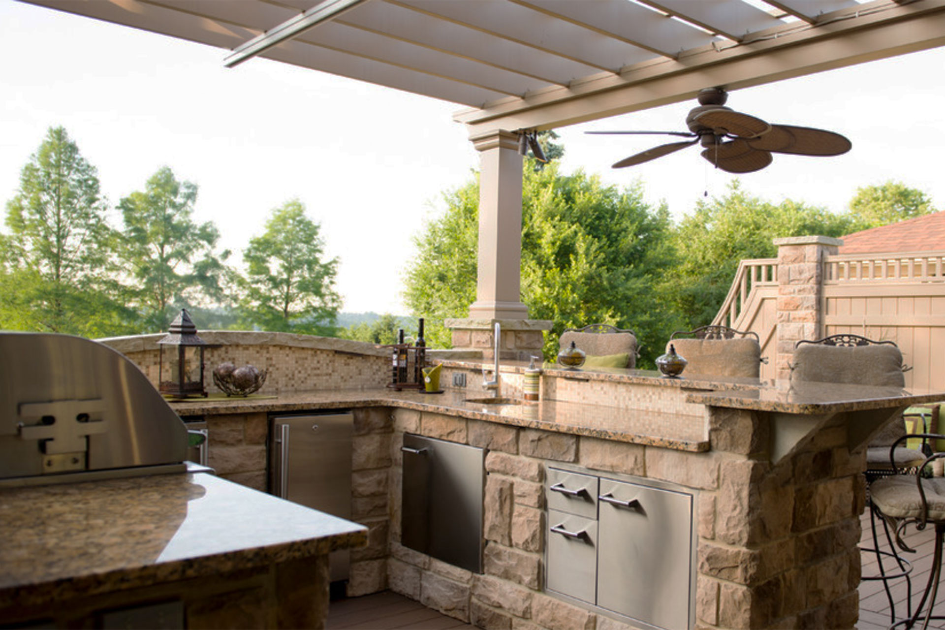 outdoor kitchen covers modern design in south hills shadefx canopies