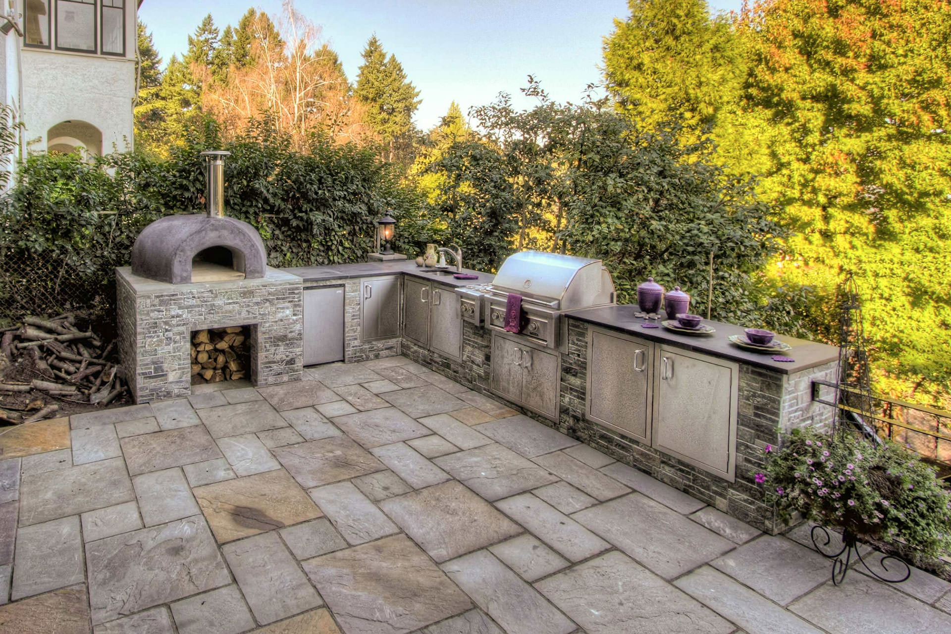 outdoor kitchen oven island with storage building the dream