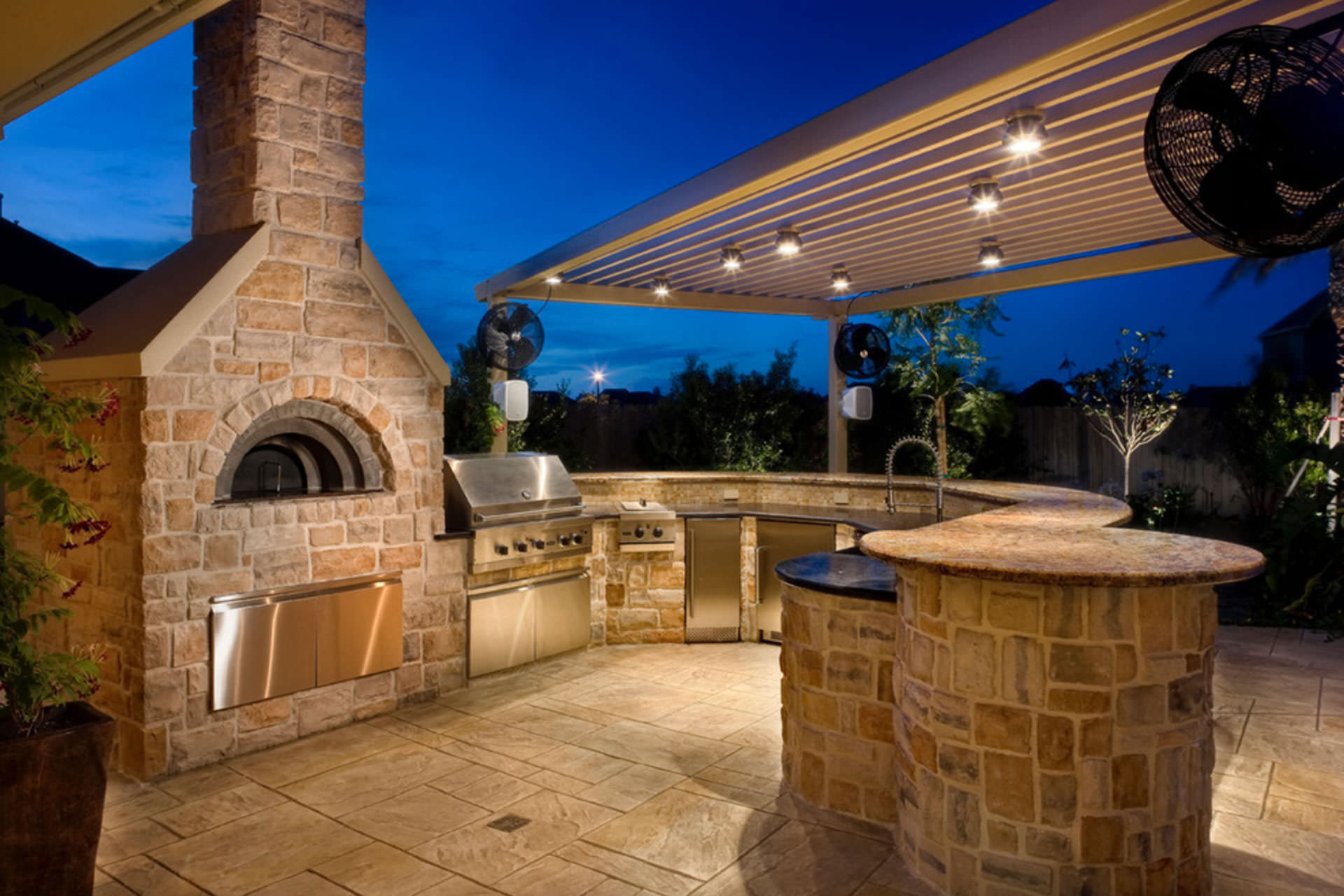 outdoor kitchen pizza oven design shelf above sink building the dream