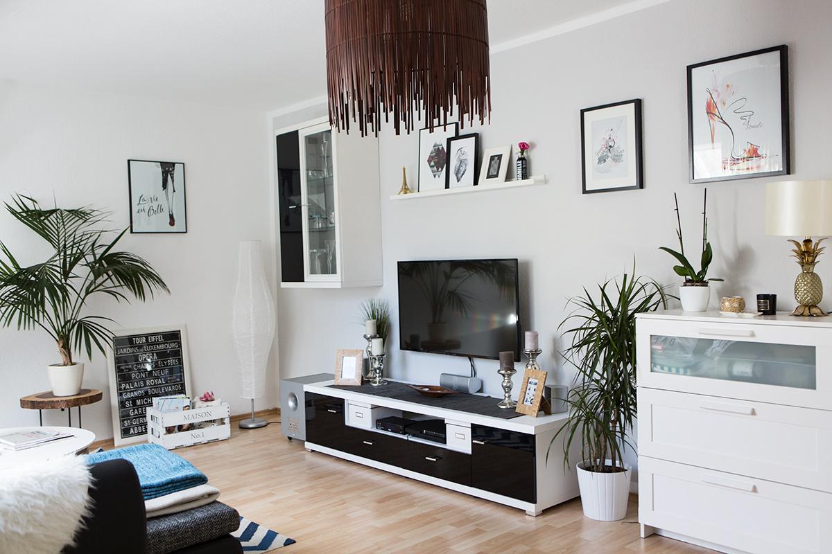 Interieur Update Wohnzimmer und Wandgestaltung  Shades