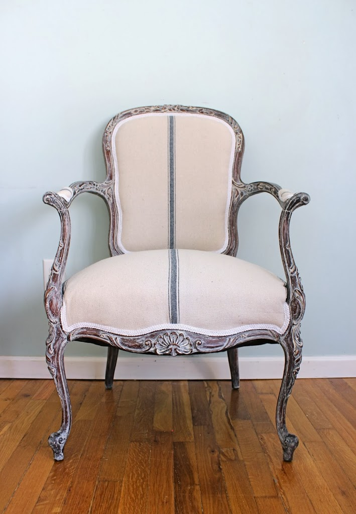 Stripping Repairing and Reupholstering a French Chair