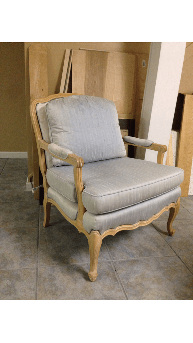 french bergere chair lounge size rh knockoff i knew wanted to give it a restoration hardware look and the frame weathered gray finish was hoping find charcoal linen fabric
