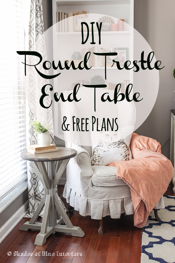 round trestle end table
