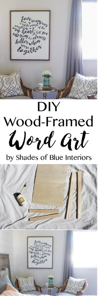 DIY Wood-Framed Word Art