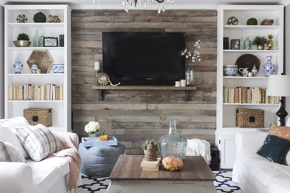 wood wall living room dark brown furniture how to build a pallet accent