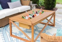 Ana White | Outdoor Coffee Table with Beverage Cooler ...