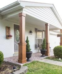 DIY Craftsman Style Porch Columns