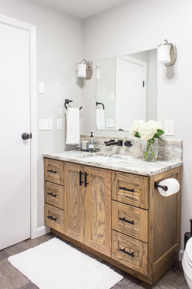 rustic modern bathroom vanity build