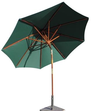 9 wooden patio umbrellas rope pulley lift manual tilt