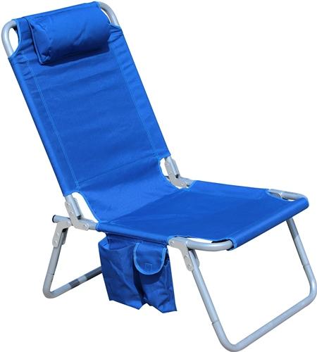 portable beach chair navy bean bag for air travel