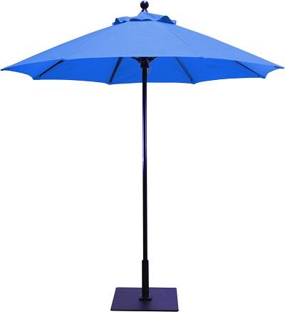 7 5 sunbrella b aluminum patio umbrella manual lift no tilt fiberglass ribs