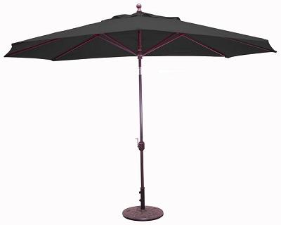 11 x 8 sunbrella a aluminum oval patio umbrella crank lift auto tilt aluminum ribs