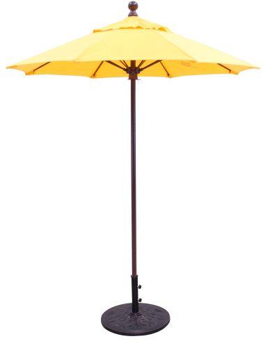 6 sunbrella b aluminum patio umbrella manual lift no tilt fiberglass ribs