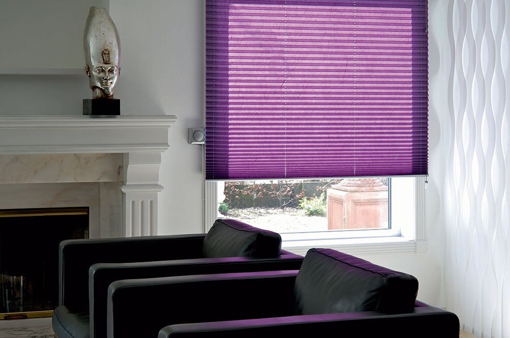 Purple Pleated Blind